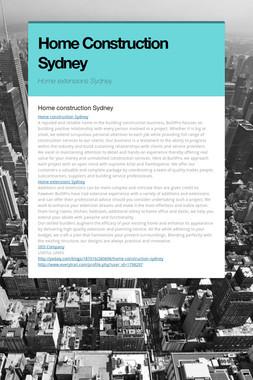 Home Construction Sydney