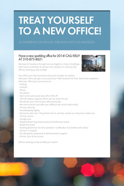TREAT YOURSELF TO A NEW OFFICE!