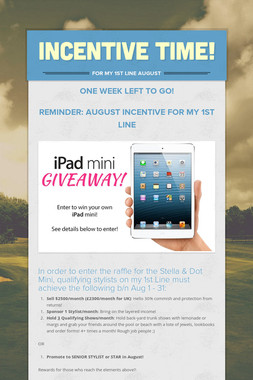 Incentive Time!
