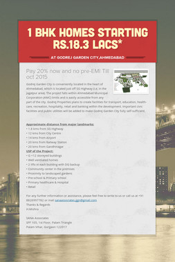 1 BHK homes Starting Rs.18.3 lacs*