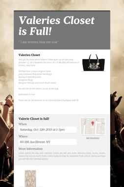 Valeries Closet is Full!