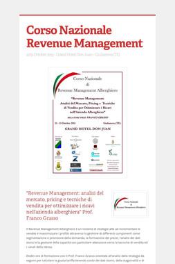 Corso Nazionale Revenue Management