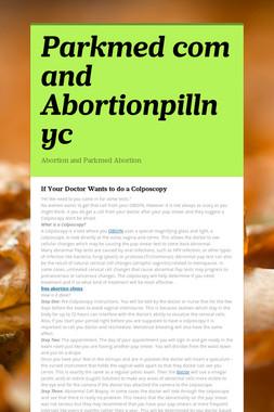 Parkmed com and Abortionpillnyc