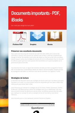 Documents importants - PDF, iBooks