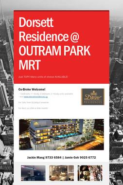 Dorsett Residence @ OUTRAM PARK MRT