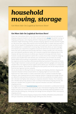 household moving, storage