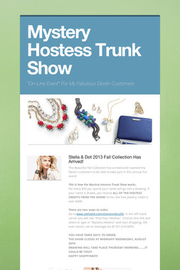 Mystery Hostess Trunk Show