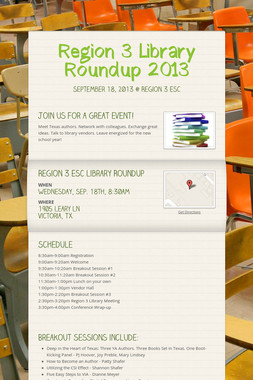 Region 3 Library Roundup 2013