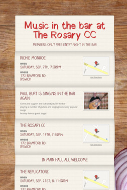 Music in the bar at The Rosary CC