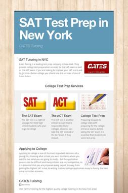 SAT Test Prep in New York