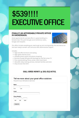 $539!!!! EXECUTIVE OFFICE