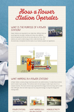 How a Power Station Operates