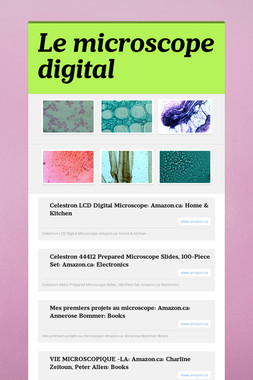 Le microscope digital