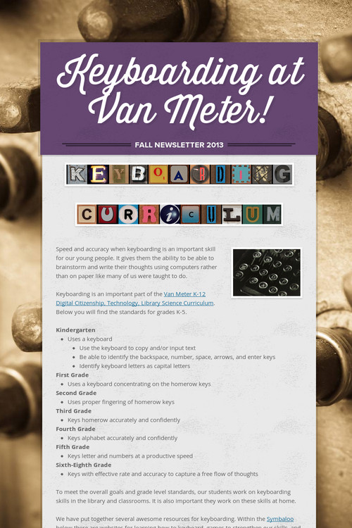 keyboarding at van meter