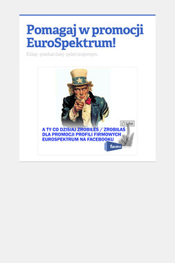 Pomagaj w promocji EuroSpektrum!