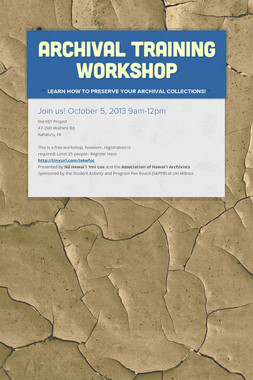 Archival Training Workshop