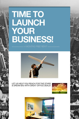TIME TO LAUNCH YOUR BUSINESS!