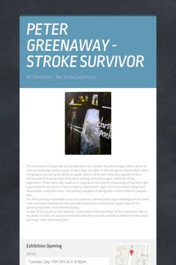 PETER GREENAWAY - STROKE SURVIVOR
