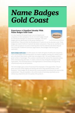 Name Badges Gold Coast