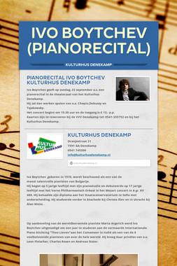Ivo Boytchev (pianorecital)
