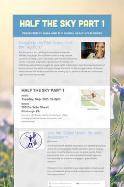 HALF THE SKY PART 1