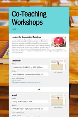 Co-Teaching Workshops