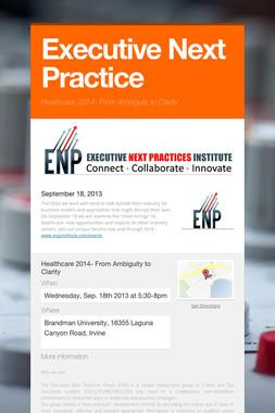 Executive Next Practice