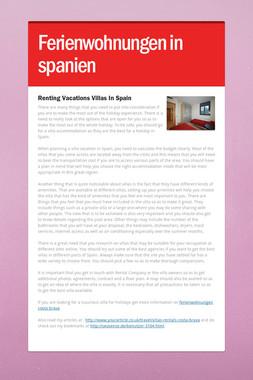 Ferienwohnungen in spanien