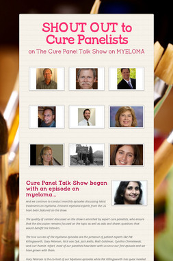 SHOUT OUT to Cure Panelists