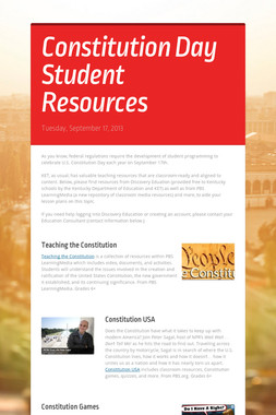 Constitution Day Student Resources