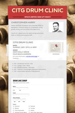 CITG Drum Clinic
