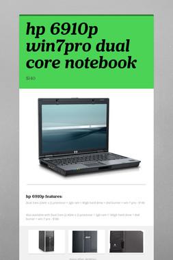 hp 6910p win7pro dual core notebook
