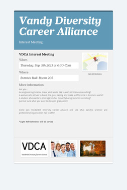 Vandy Diversity Career Alliance