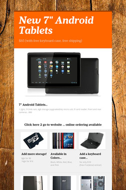 """New 7"""" Android Tablets"""