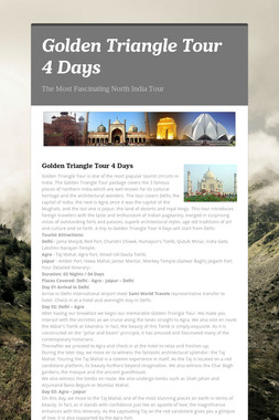 Golden Triangle Tour 4 Days