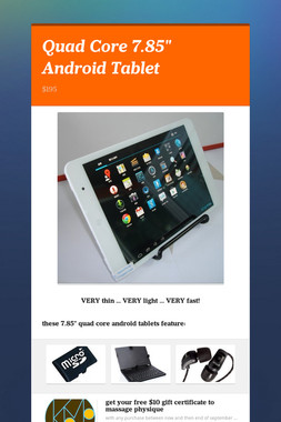 """Quad Core 7.85"""" Android Tablet"""