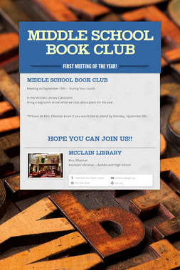 Middle School Book Club