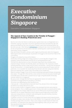 Executive Condominium Singapore