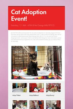 Cat Adoption Event!