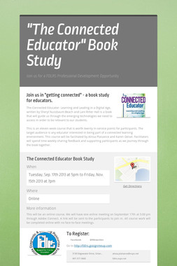 """The Connected Educator"" Book Study"