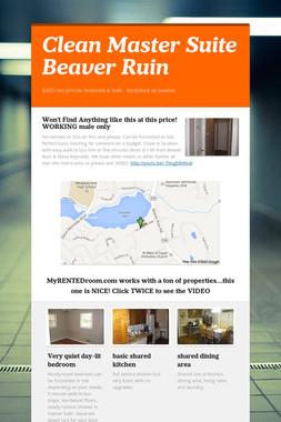 Clean Master Suite Beaver Ruin