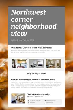 Northwest corner neighborhood view