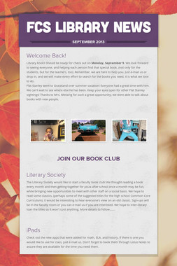 FCS Library News