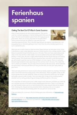 Ferienhaus spanien