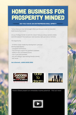Home Business for Prosperity Minded
