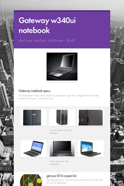 Gateway w340ui notebook
