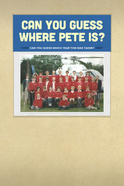 Can you guess where Pete is?