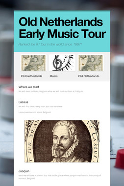 Old Netherlands Early Music Tour
