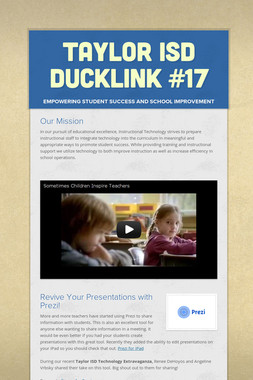Taylor ISD DuckLink #17