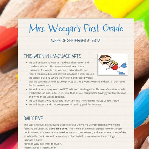 Mrs. Weegar's First Grade